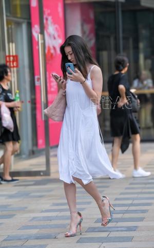 白色长裙高跟 - 13p