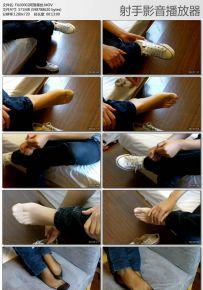 阿努小姐的黑丝短袜特写