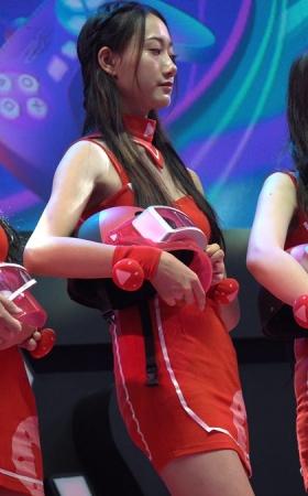 2018CJ 红裙美腿showgirl少女
