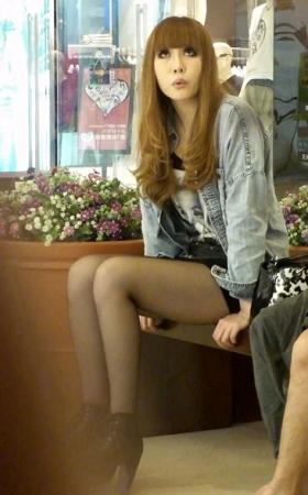 215超薄黑丝时尚日系MM