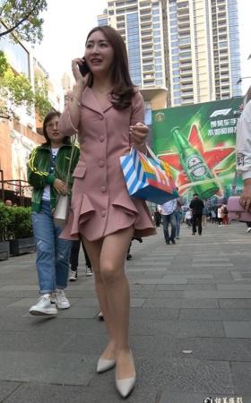 4K街拍超好气质的肉丝高跟鞋美女